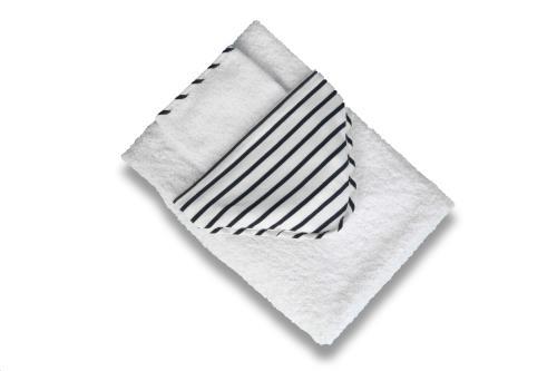 CAPE XXL (95x95cm) + washandje Denim stripes