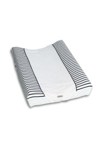 WASKUSSENHOES  badstof Denim stripes