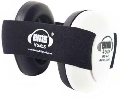 WHITE Em's 4 Bubs Black gehoorbeschermers