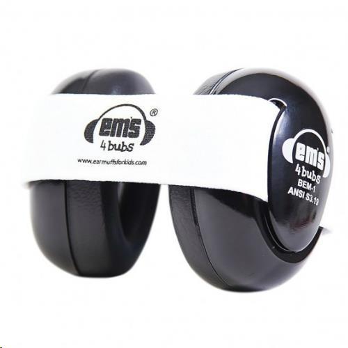 BLACK Em's 4 Bubs White gehoorbeschermers