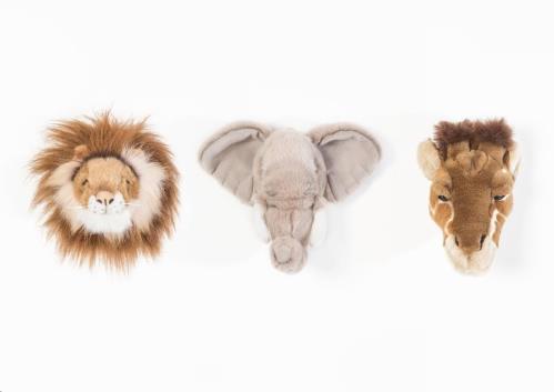 Safari box mini trophy - leeuw / olifant / giraf