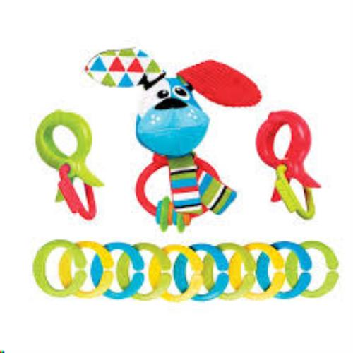 Yookidoo - Rammelaars - Clips Rattle 'N' Links - Dog - One size