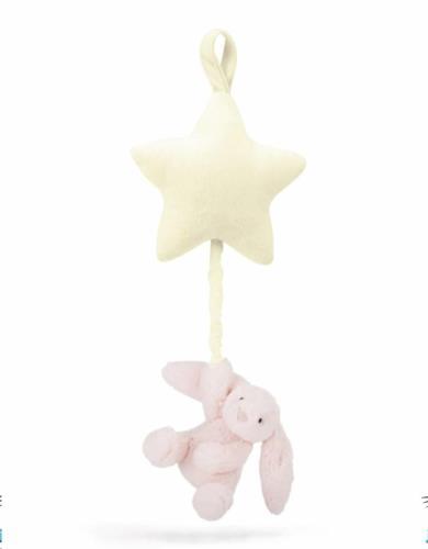 Bashful Pink Bunny Star Musical Pull