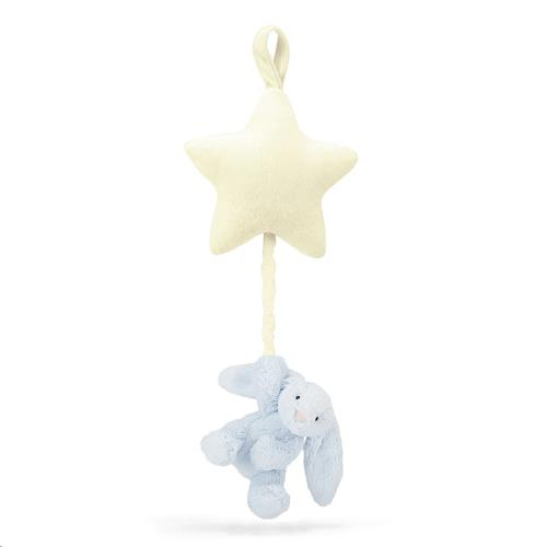 Bashful Blue Bunny Star Musical Pull 28 CM