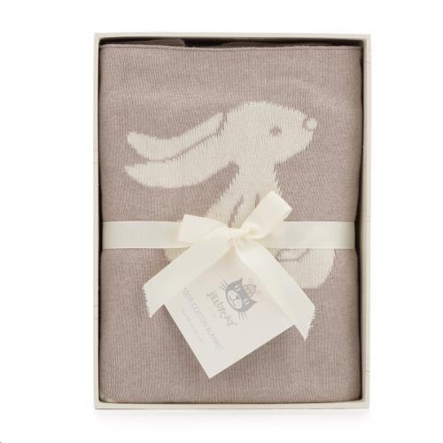 Bashful Beige Bunny Blanket 102 CM