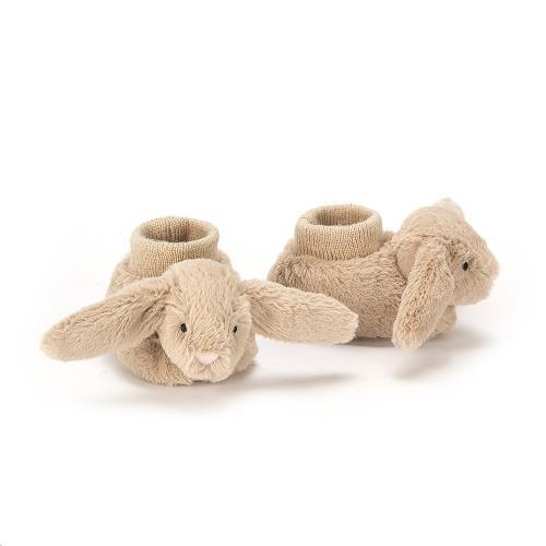 Bashful Beige Bunny Booties 10 CM