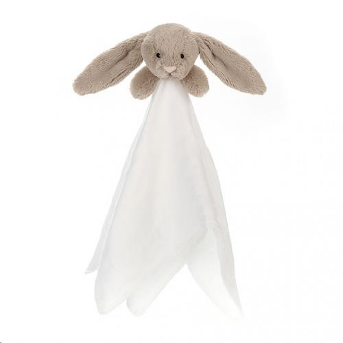 Bashful Beige Bunny Muslin Soother doudou
