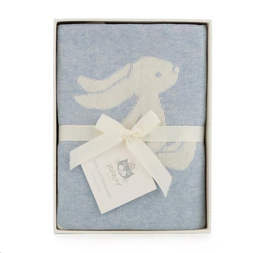 Bashful Blue Bunny Blanket 102 CM