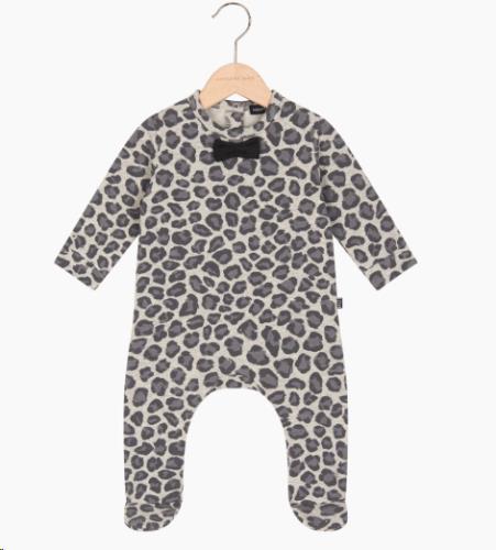 Bow Tie babysuit - Rocky Leopard 56-62