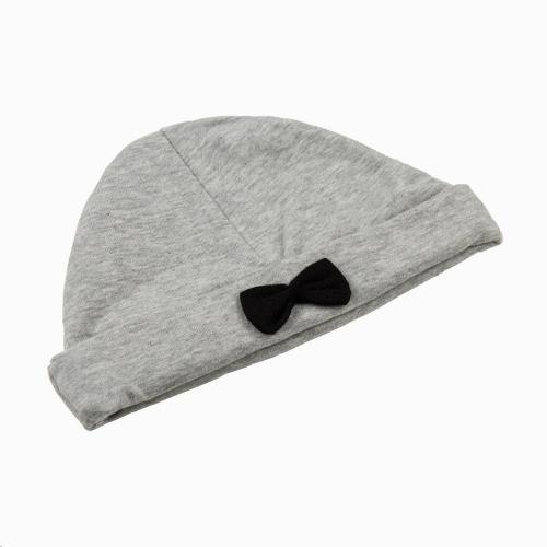 Bow Tie Hat - Stone 0-3