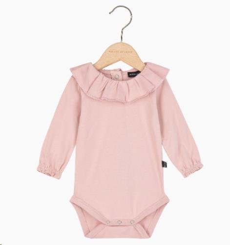 Pierrot Bodysuit - Powder Pink 74-80