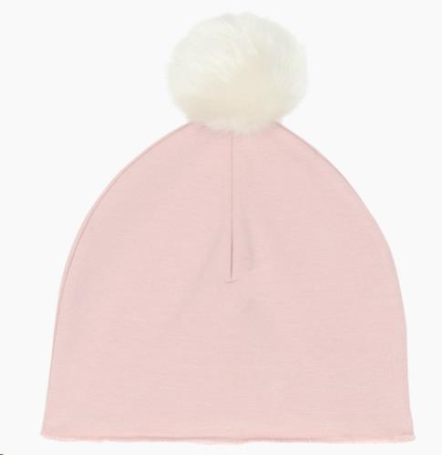 Pom Pom Hat - Powder Pink 0-2 jaar
