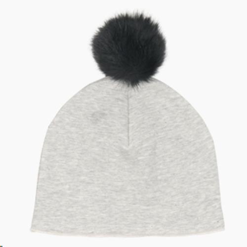 Pom Pom Hat - Stone HOJ-PPH-231-ST-0-4