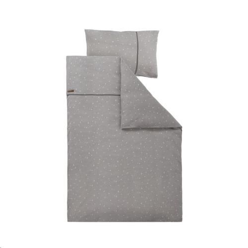 1 pers. dekbedovertrek - little stars grey 140x200 + 60x70