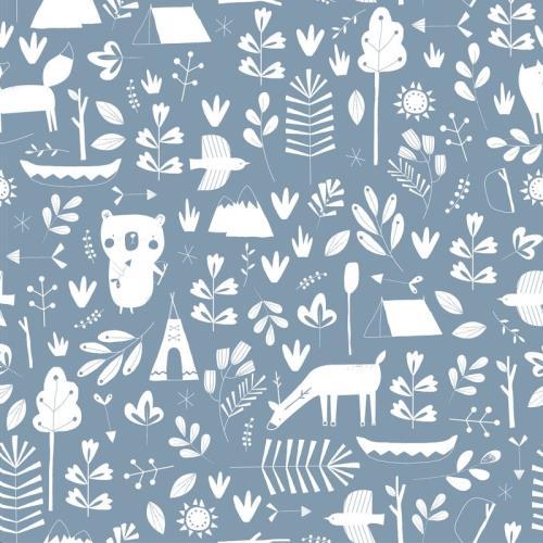 Vliesbehang - adventure blue 53 cm x 10 m