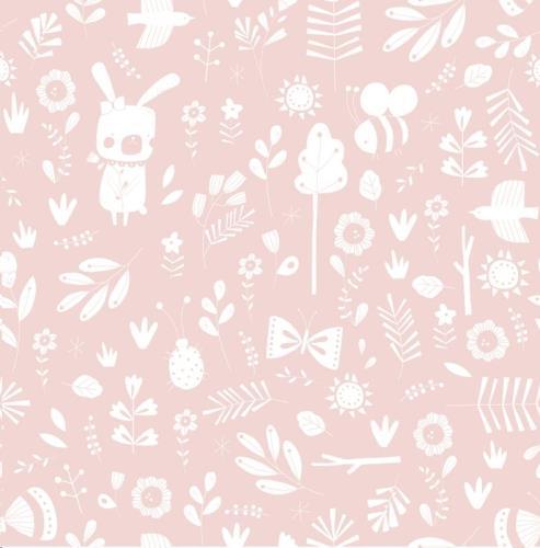 Vliesbehang - adventure pink 53 cm x 10 m
