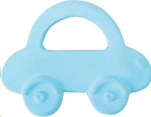 BIJTRING Auto 9cm, in natuurlijk rubber, 0+