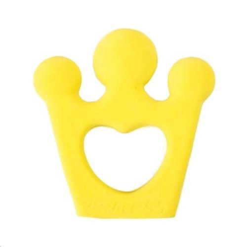BIJTRING Kroon 10cm, in natuurlijk rubber
