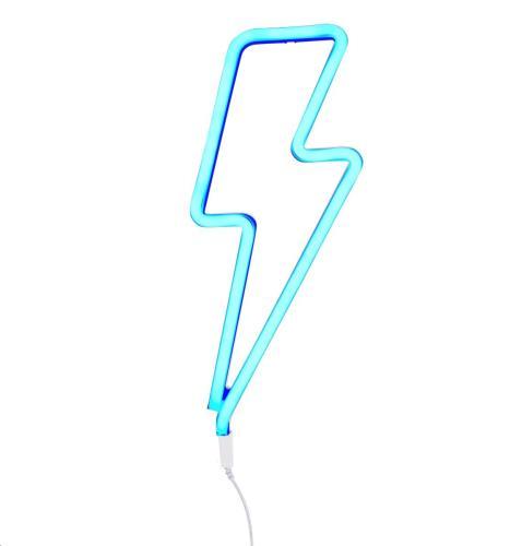 Neon stijl lamp: Bliksem - blauw EU