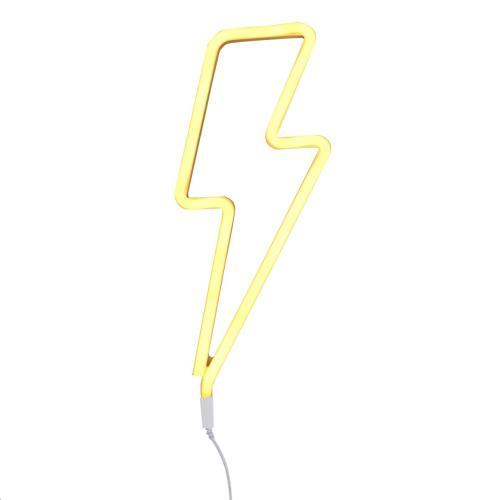 Neon stijl lamp: Bliksem - geel EU