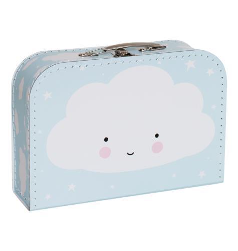 Koffer: Wolkje - blauw