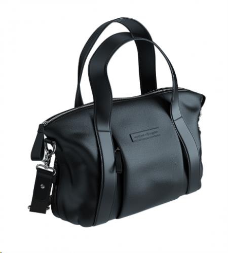 Storksak + bugaboo leather bag ZWART