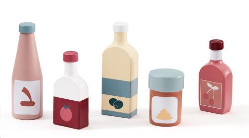 Speelset flessen voor keukentje
