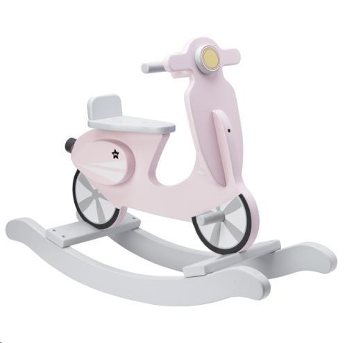 Rocking scooter roze/wit