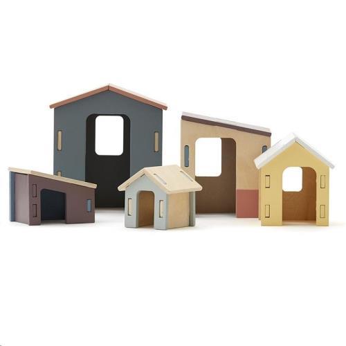 Kleine houten huisjes 15cm-6,5cm