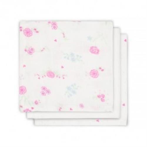 Monddoekje hydrofiel Blooming pink (3pack)