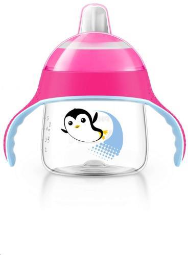 Lekvrije Pinguin beker 200ml Roze