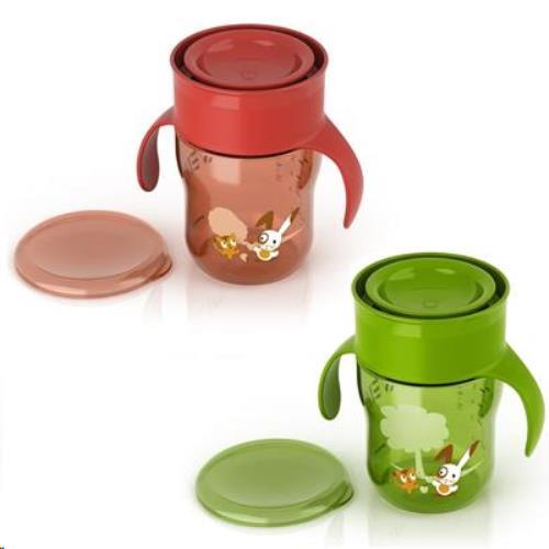Grown Up cup / grote mensenbeker Groen/Rood 260ml