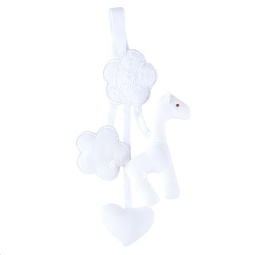 Knuffels Rammelaar speenhouder giraf wit Wit