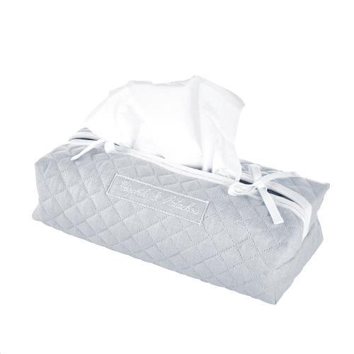 Pearl Hoes voor kleenex-doos - Gewatteerd Grijs