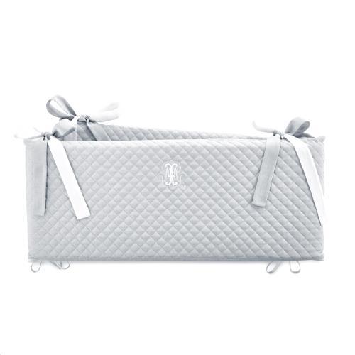 Pearl Bedbeschermer 70cm - Gewatteerd (70x70x70cm) H:29cm Grijs
