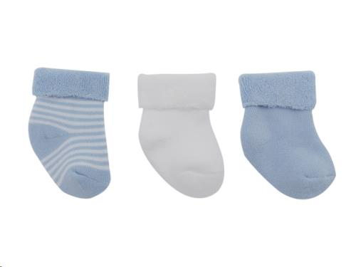 Sokjes in een doosje / blauw gestreept