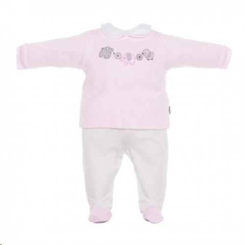 Cambrass pyjama 2-delig diertjes roze 3M