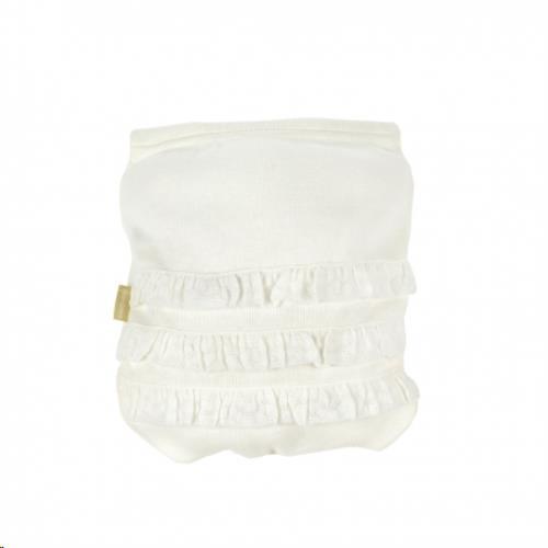 Cambrass broekje met kant wit 6M