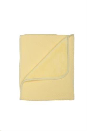 Wiegdeken 80x100 cm soft yellow