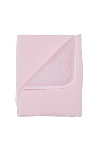 Ledikantdeken 120x150 cm soft pink