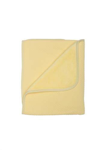 Ledikantdeken 120x150 cm soft yellow