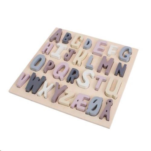 Houten puzzel ABC midnight plum