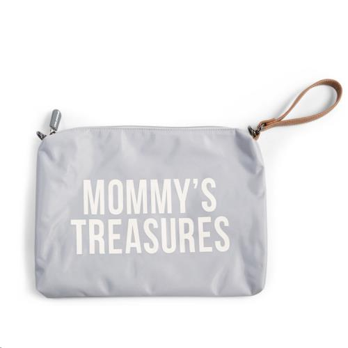 MOMMY CLUTCH GREY OFF WHITE