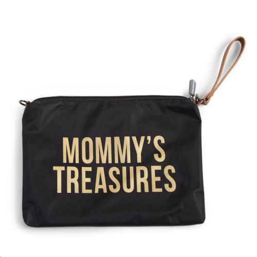 MOMMY CLUTCH BLACK GOLD