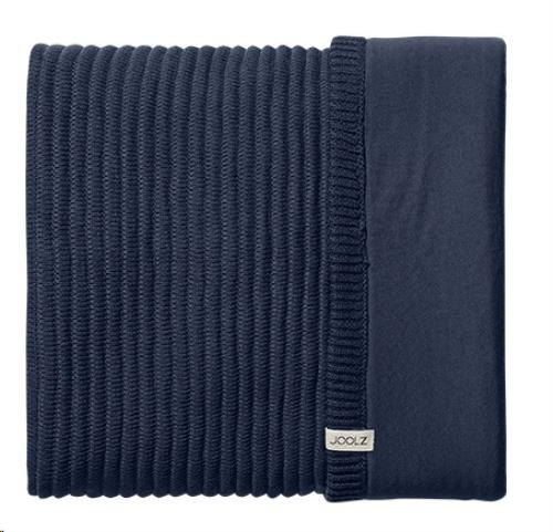 Essentials deken ribbed blue