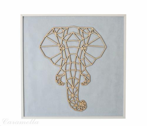 Azure kader met olifant