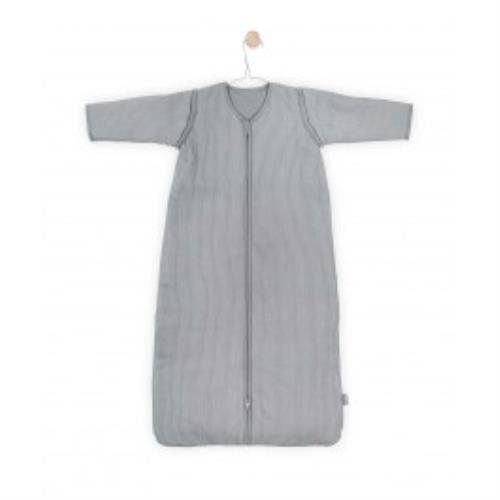 Baby slaapzak 110cm Rib stone grey met afritsbare mouw