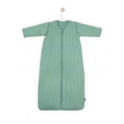 Baby slaapzak 110cm Rib forest green met afritsbare mouw