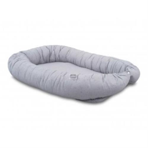 Babynest Mini dots mist grey