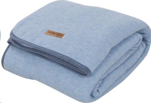 Ledikantdeken pure & soft - blue melange 110x140